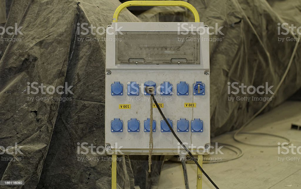 electrically distribution box royalty-free stock photo