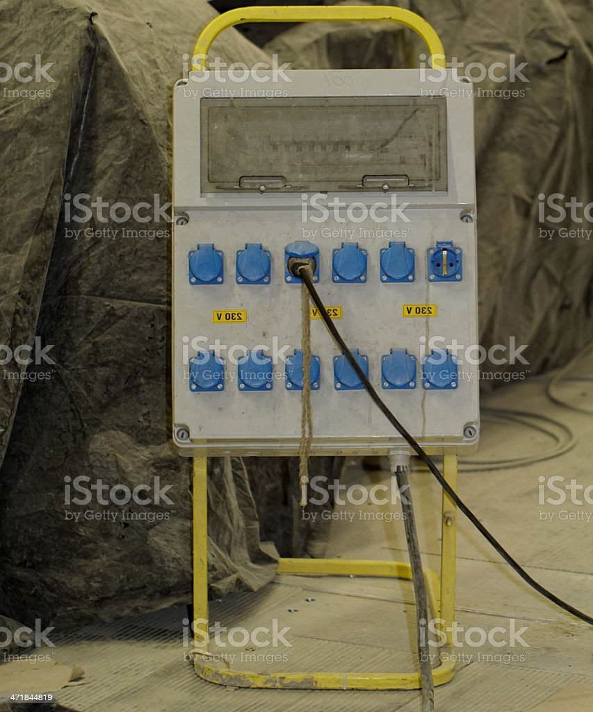 electrically distribution box royalty-free stock photo