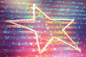 Electrically lit star