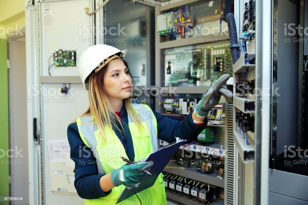 Electrician engineer worker royalty-free stock photo