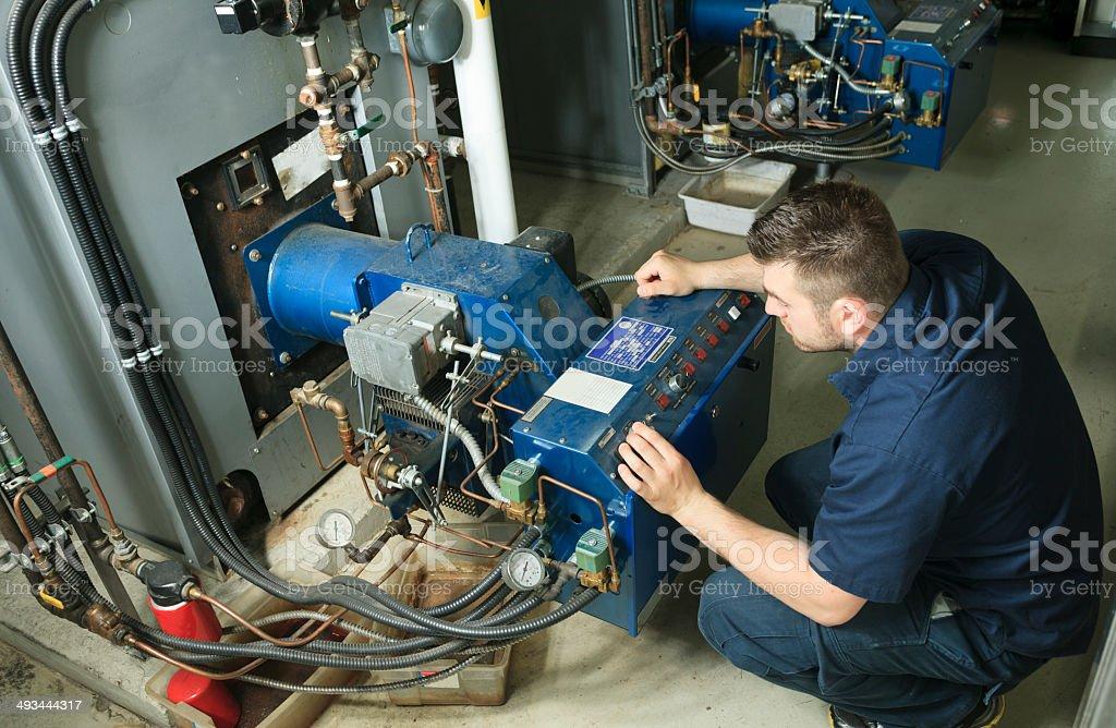 Electrician - Men Working stock photo