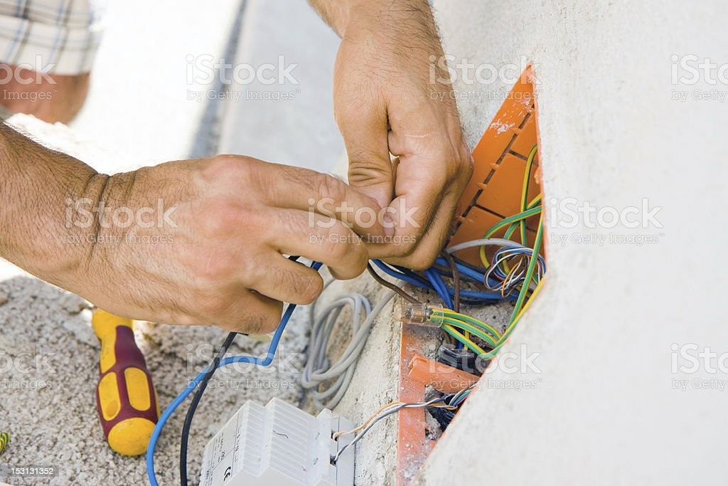 electrician - Royalty-free Cable Stock Photo