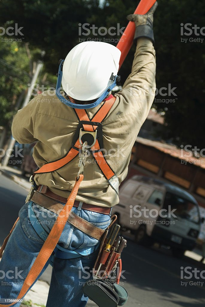 Electrician stock photo