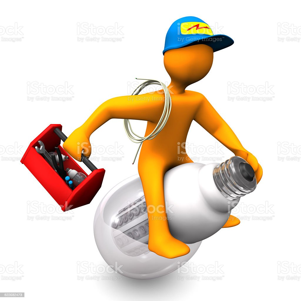 Electrician Rides stock photo