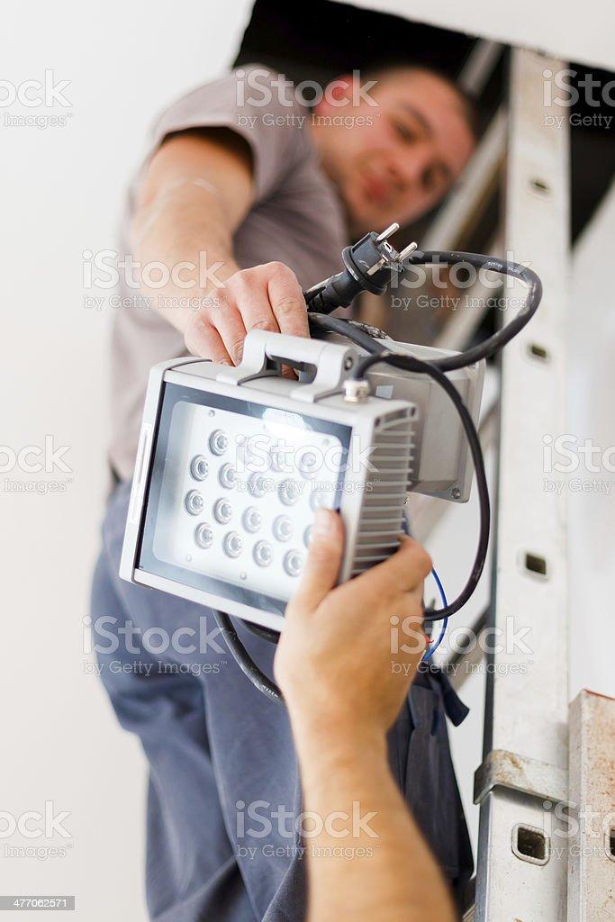 Elektriker Teamarbeit – Foto
