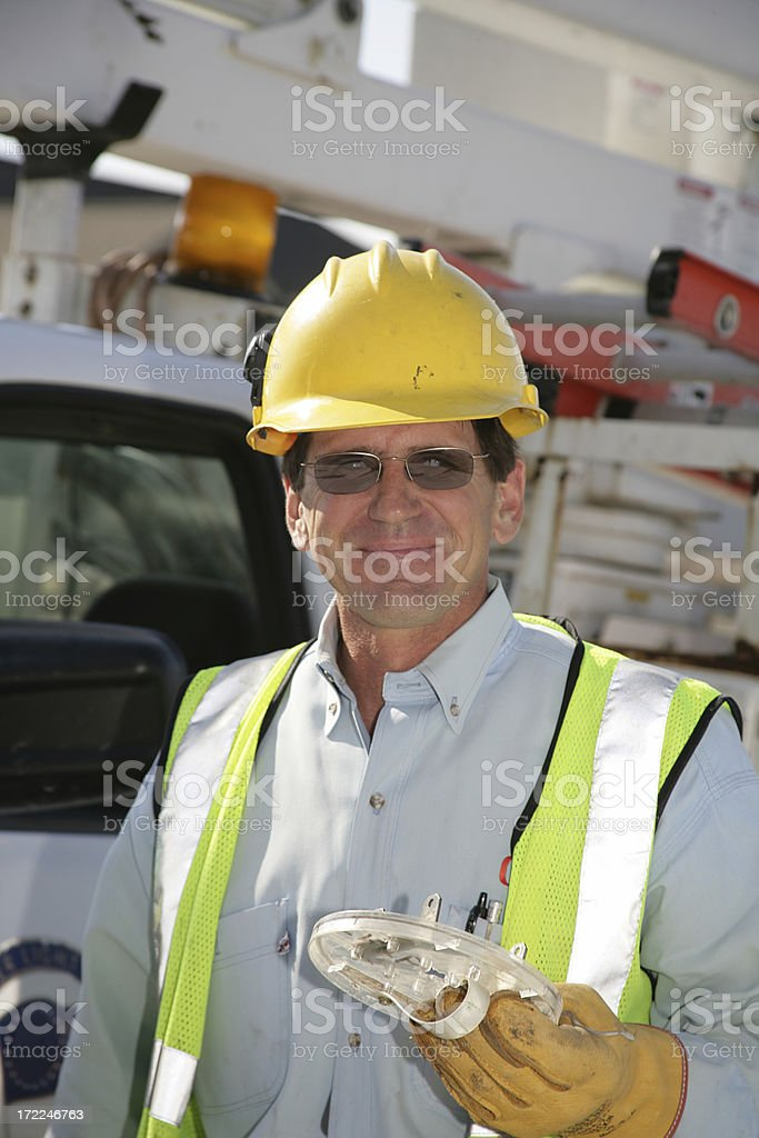 Electrician Vertical royalty-free stock photo