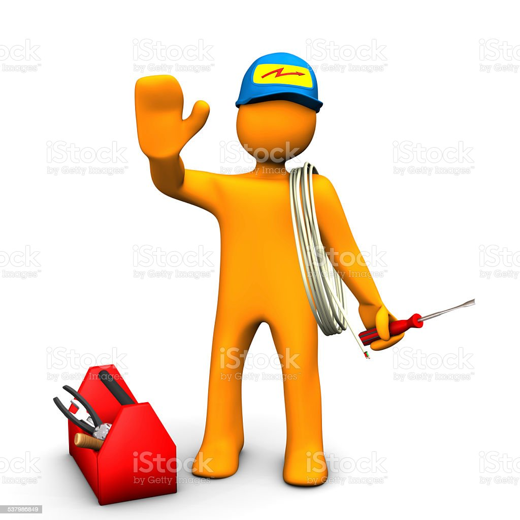 Electrician Waves stock photo