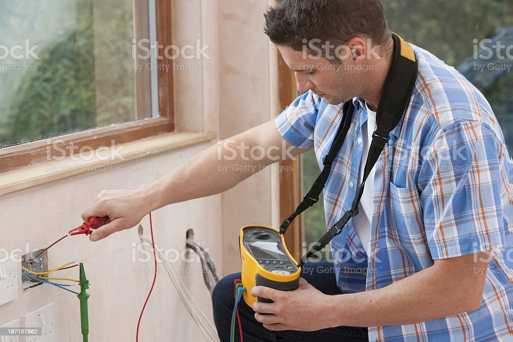 Electrician Working royalty-free stock photo