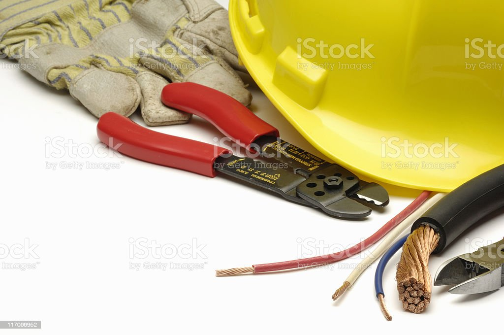 Electrician's tools royalty-free stock photo