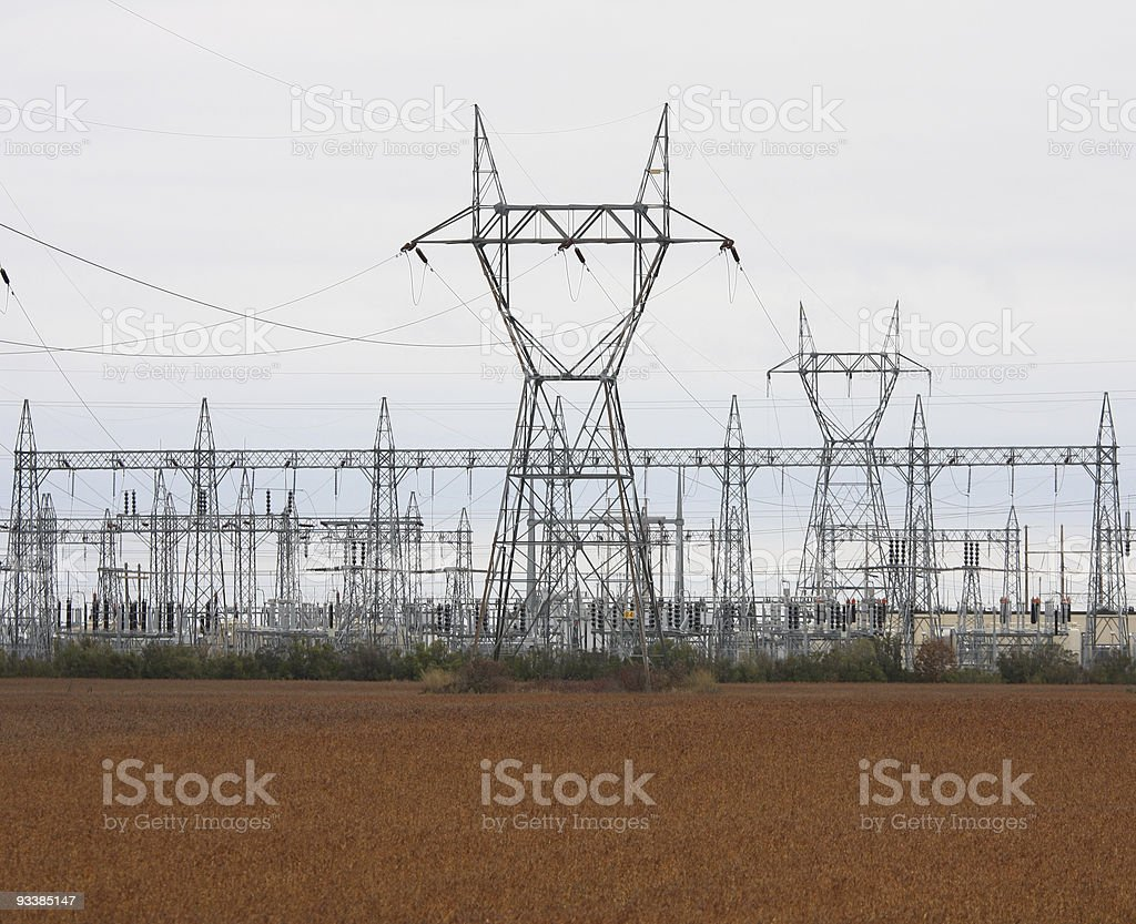 Electricity and Power Station stock photo
