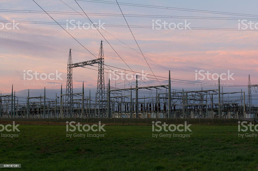 electricity at sundwon stock photo