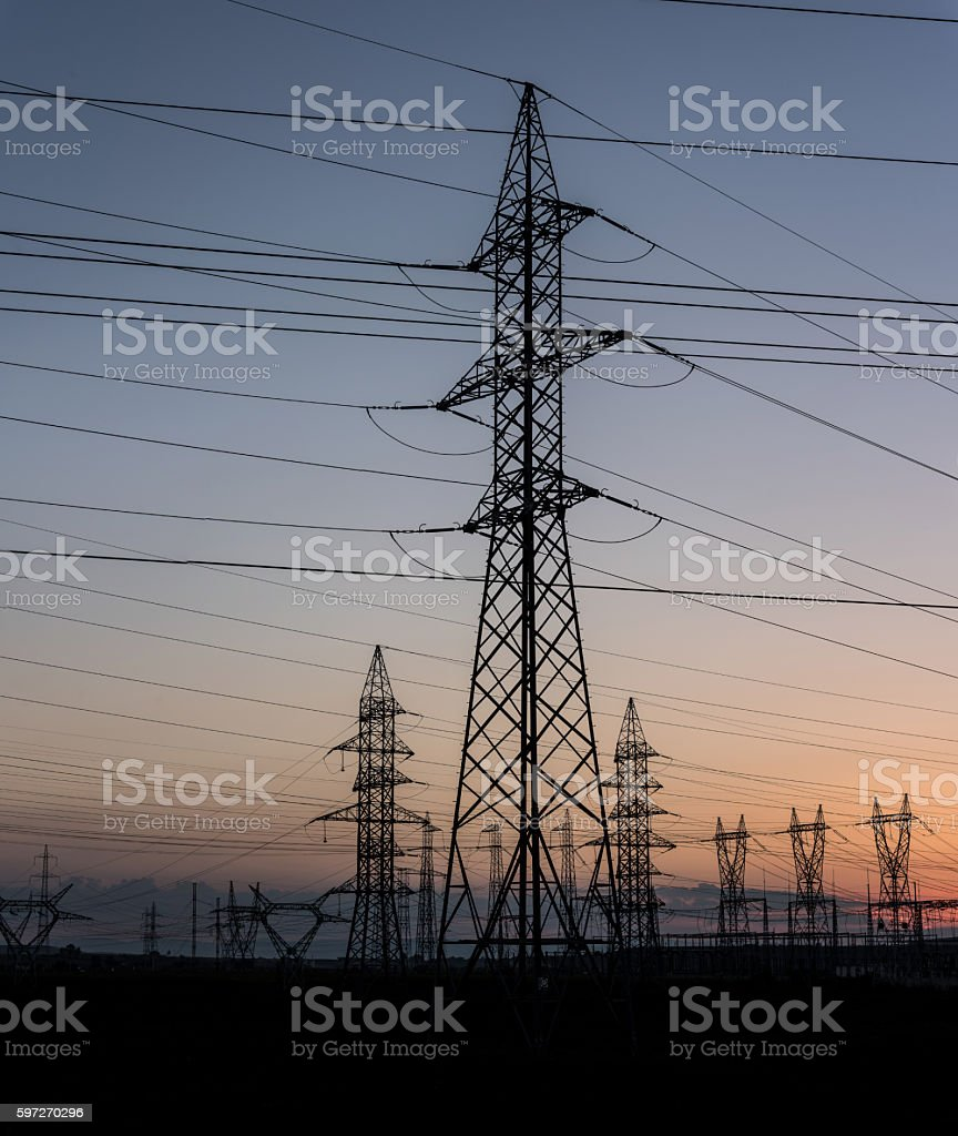 Electricity background. Lizenzfreies stock-foto