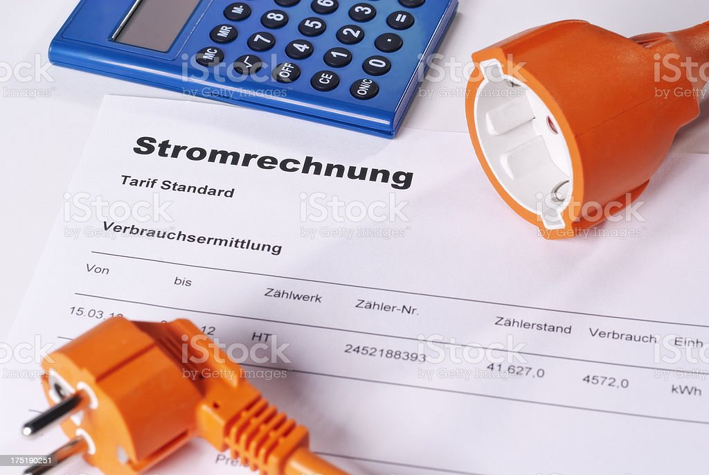 Stromrechnung stock photo