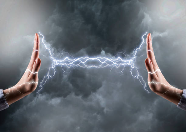 FIGHT / POWER - Electricity concept (Click for more) stock photo
