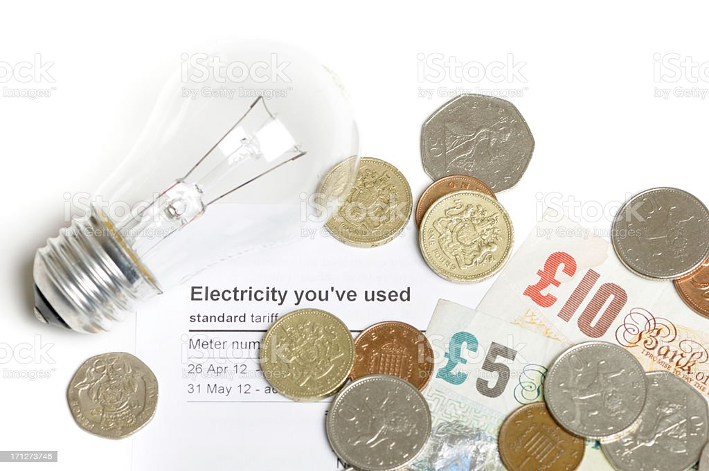 Electricity cost stock photo