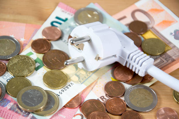 electricity costs stock photo