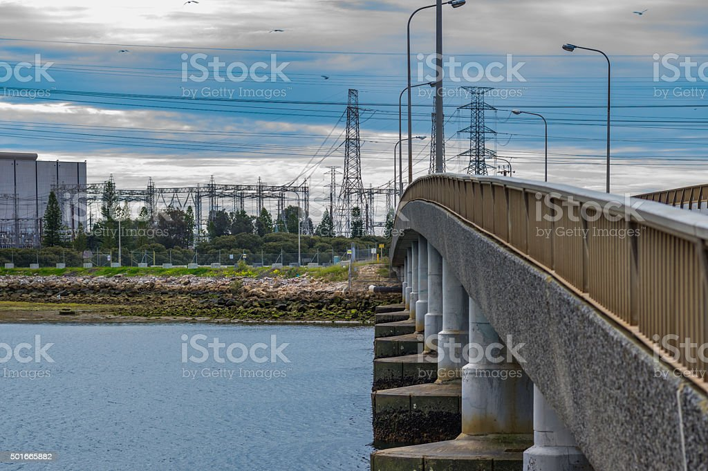 Electricity Delivery stock photo