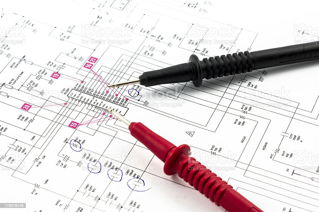 Elektrizität Diagramm - Lizenzfrei Ausrüstung und Geräte Stock-Foto