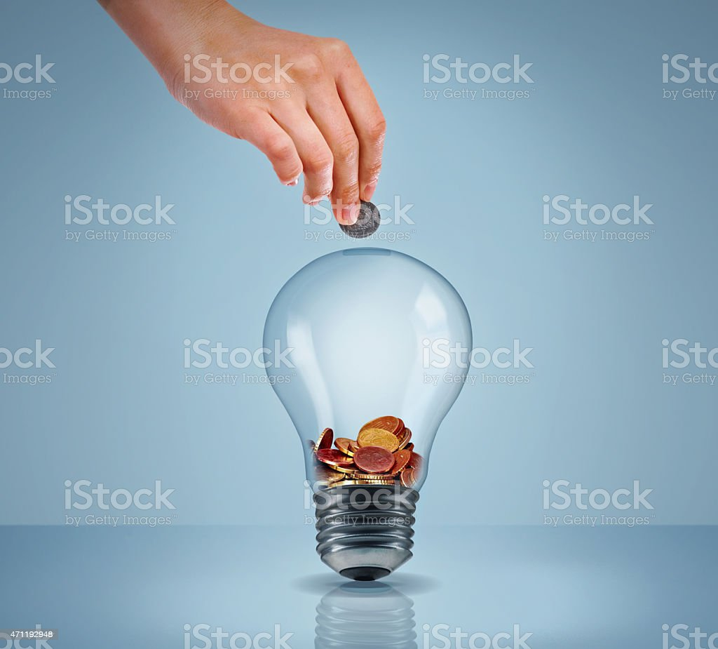 Electricity eating up your savings? stock photo
