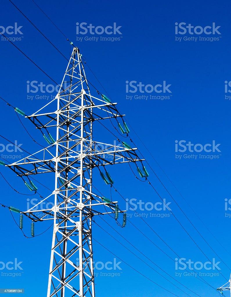 Electricity Energy Pylon stock photo