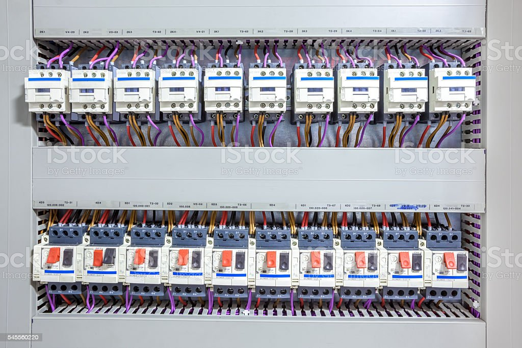 electricity fuse box this electricity fuse box is an system for the whole house Automated Stock Photo