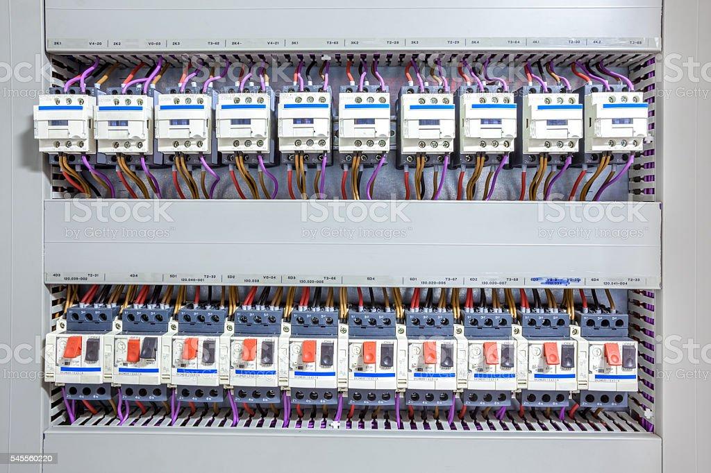 electricity fuse box stock photo