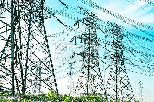 istock electricity high voltage pole and sky 912838050