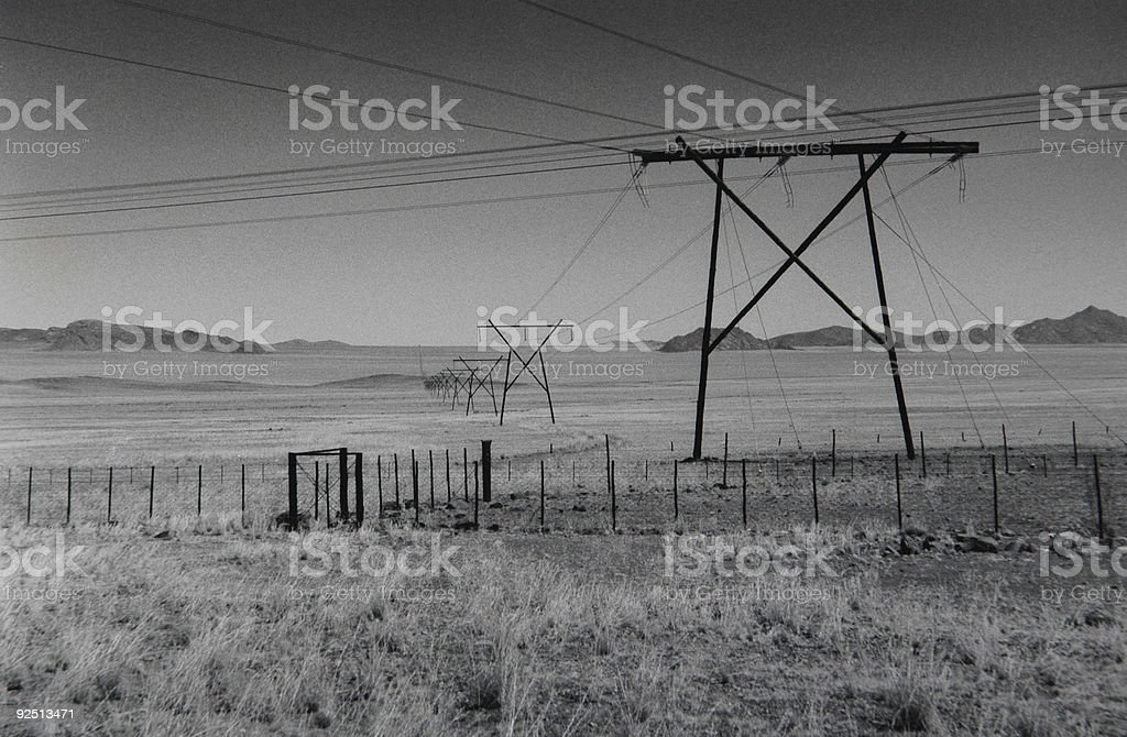 Electricity In The Desert Stock Photo & More Pictures of Black Color ...