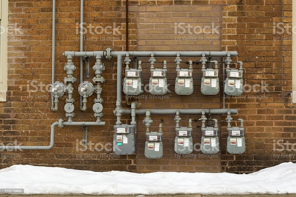 Electricity Meters royalty-free stock photo