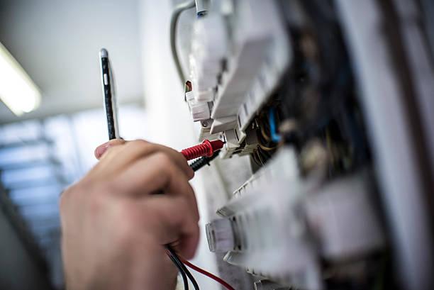 electricity - elektrische fitting stockfoto's en -beelden