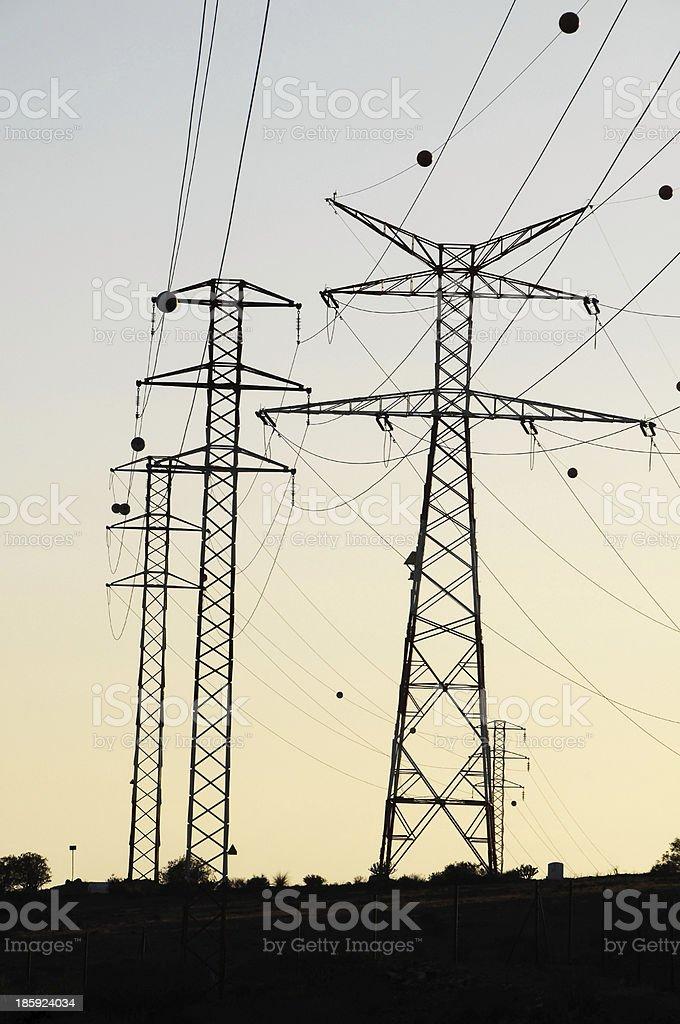 Electricity Pole royalty-free stock photo