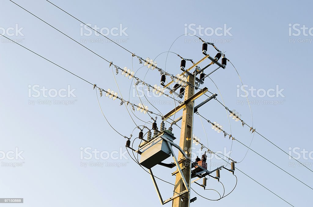 Electricity pole royalty-free stock photo