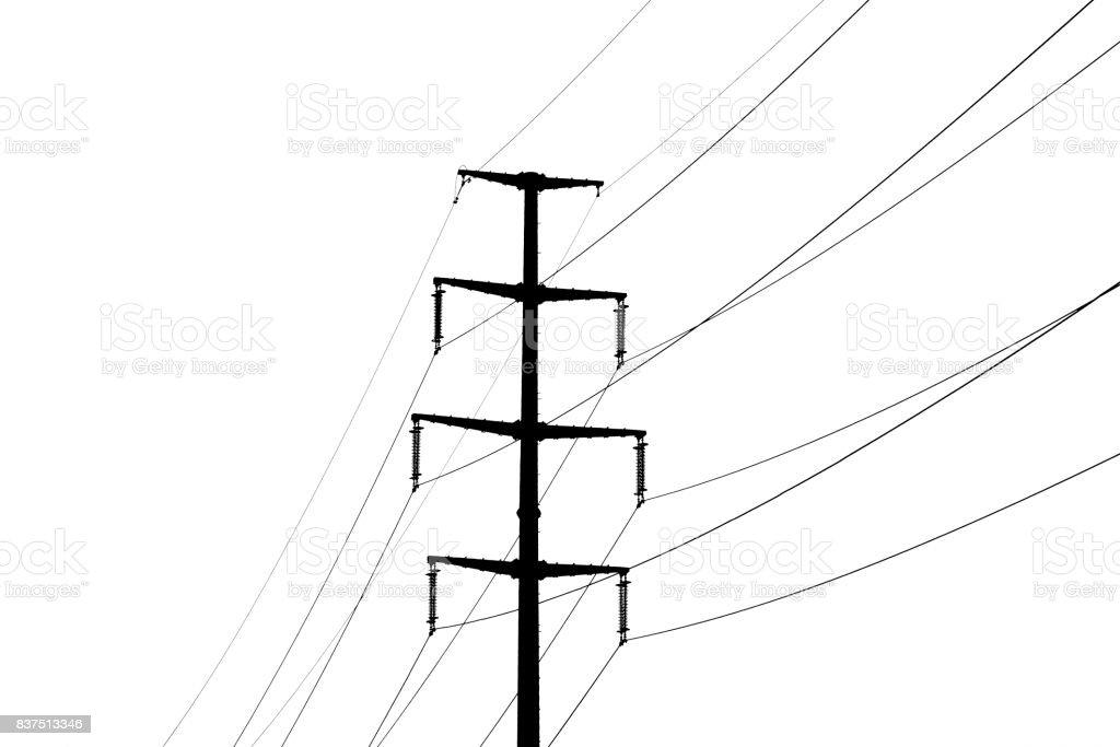 Fotografía de Vector De Poste De Electricidad y más banco de ...
