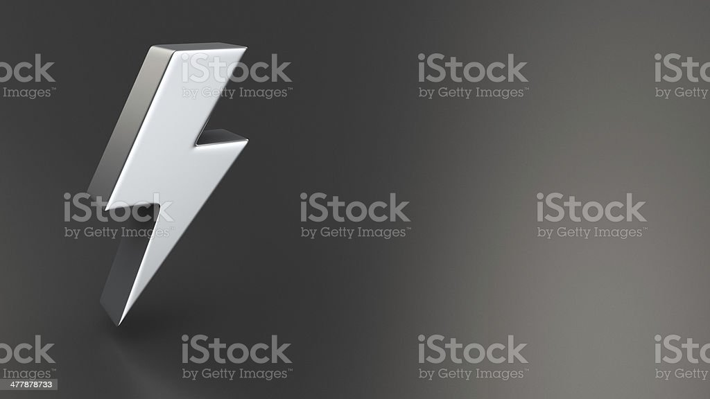 Electricity, power and energy symbol stock photo