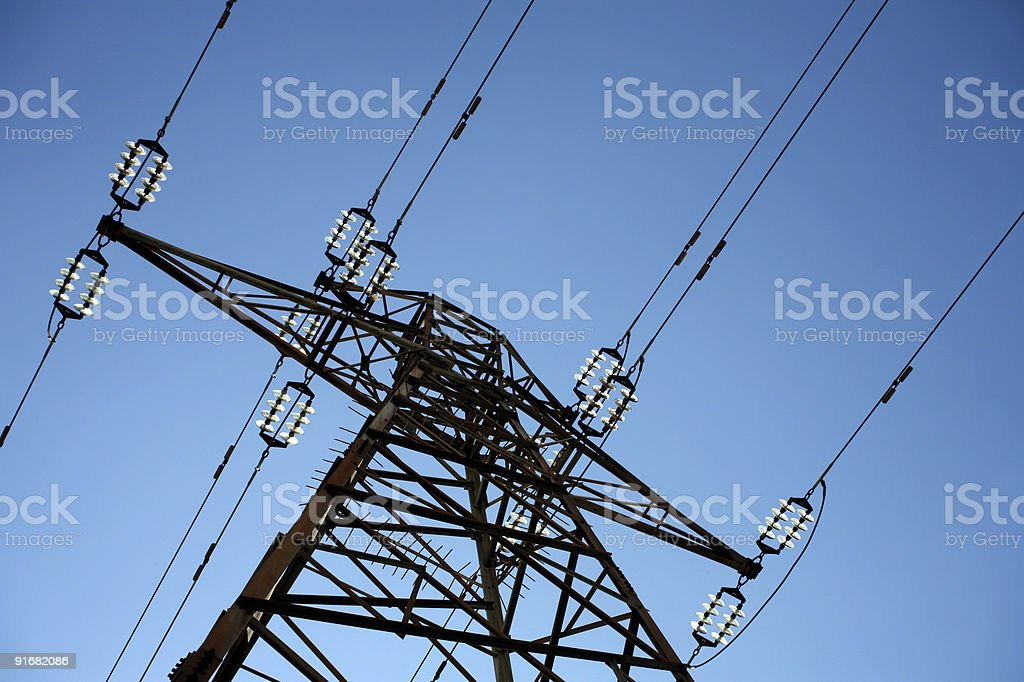 electricity power line royalty-free stock photo