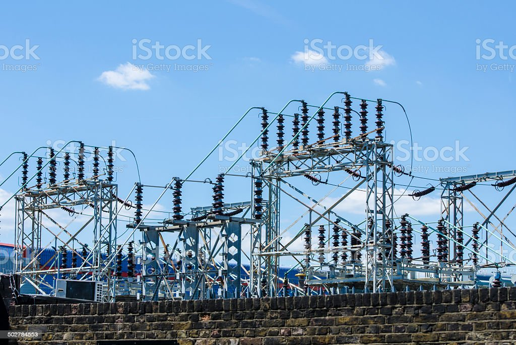 Electricity Power Station stock photo