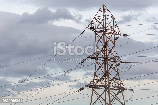 istock Electricity power substation in chennai india, where electrical power is generated, transmitted, and distributed to systems 989229604