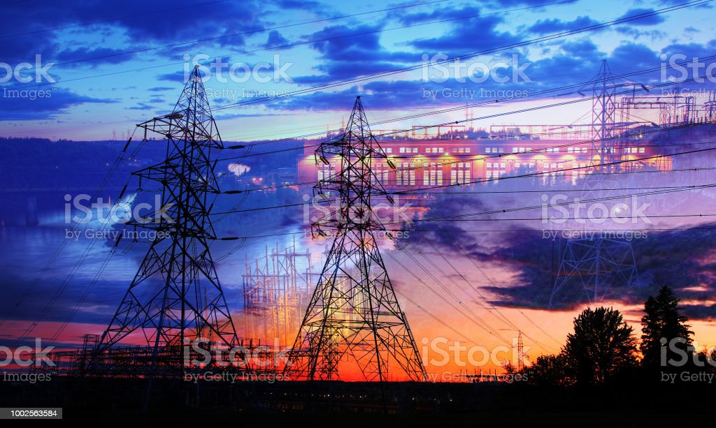 Electricity Production royalty-free stock photo