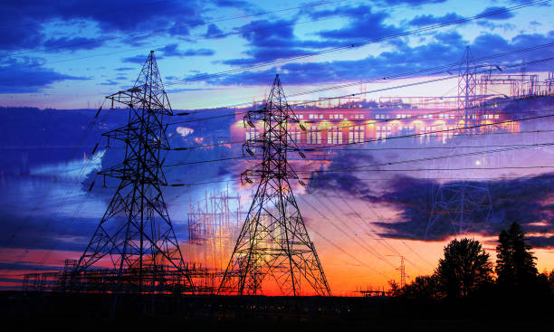 Electricity Production stock photo