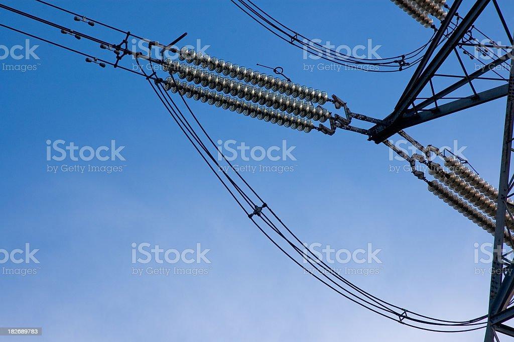 Electricity Pylon Close Up royalty-free stock photo