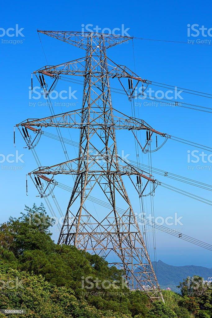 Electricity Pylon in Hong Kong – Foto