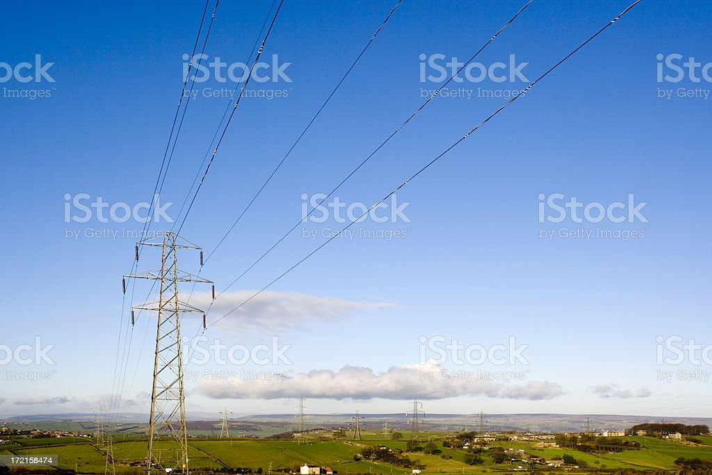 Electricity Pylons royalty-free stock photo