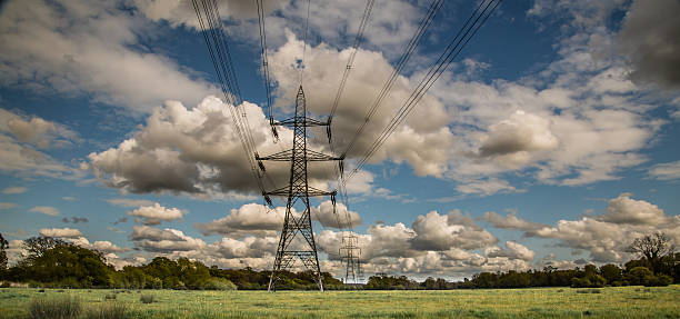 Cтоковое фото Электричество Pylons