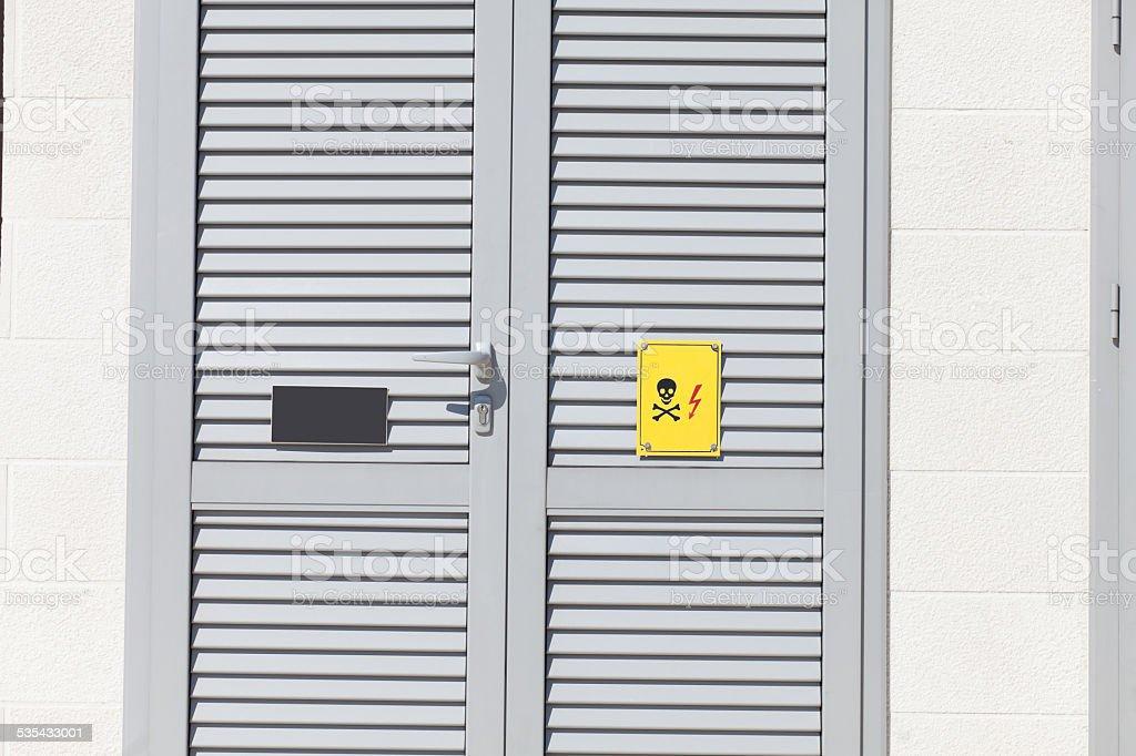 electricity room stock photo