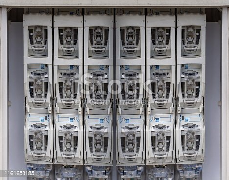 istock Electricity safety panel coktrol phase lines 1161653185