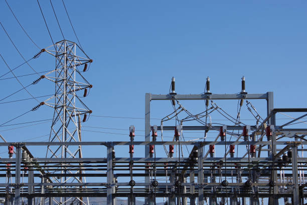 Electricity Substation stock photo