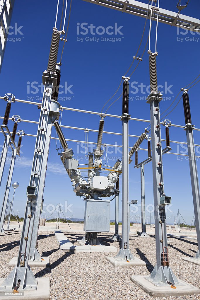 Electricity Substation royalty-free stock photo