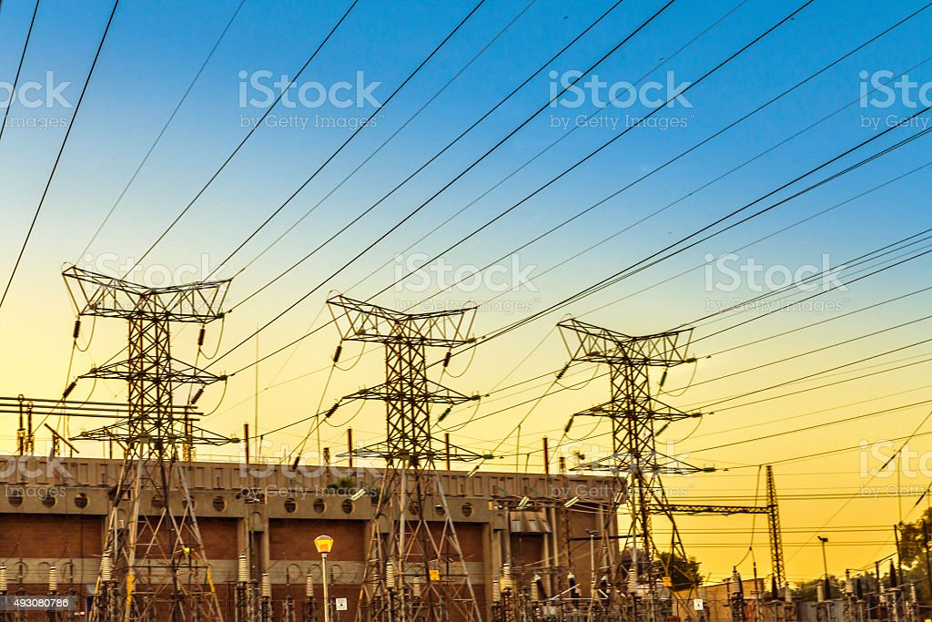 Electricity supply in South Africa stock photo