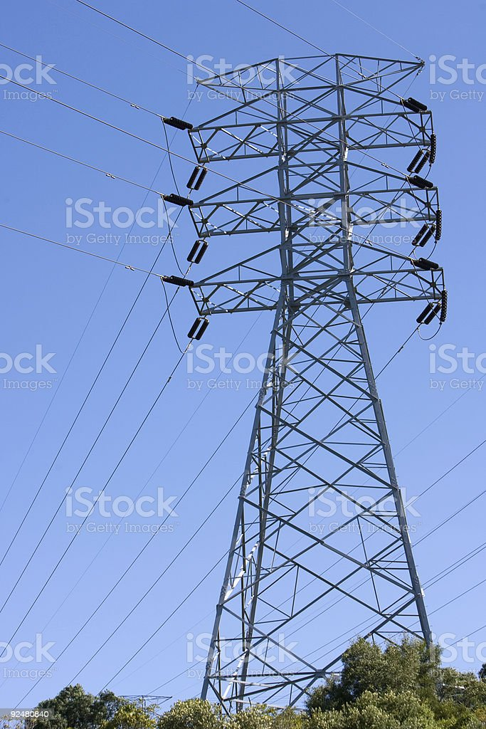 Electricity tower royalty-free stock photo