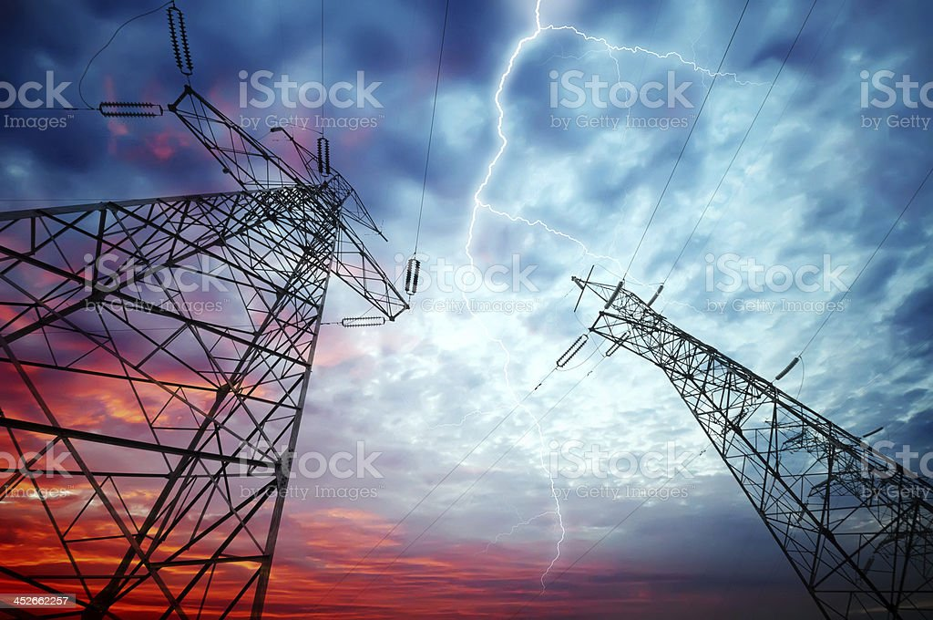 Electricity Towers stock photo